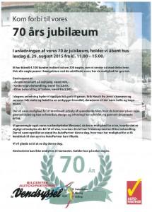 70 års jubilæum Vendsyssel 2015